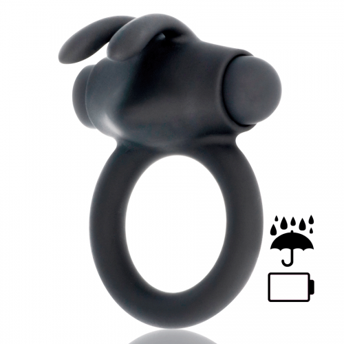 BLACK&SILVER AGRON COCK RING