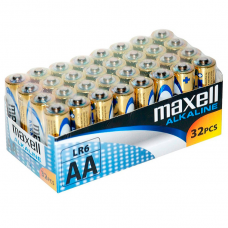 BATERIA MAXELL ALCALINA AA LR6 PACK * 32 UDS