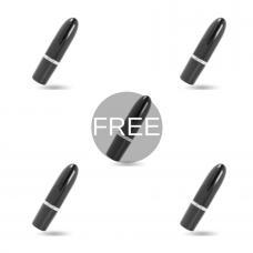 AMORESSA IVY VIBRATOR BLACK 4 + 1 FREE