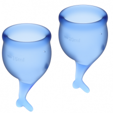 SATISFYER FEEL SECURE MENSTRUAL CUP DARK BLUE 15 + 20ML