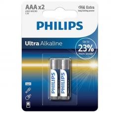 BATERIA PHILIPS ULTRA ALCALINA AAA LR03 BLISTER * 2