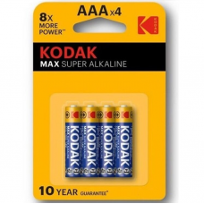 BATERIA SUPER ALCALINA KODAK MAX AAA LR03 * 4