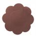 BYE BRA SATIN NIPPLE COVERS 3 PACK - DARK BROWN XL